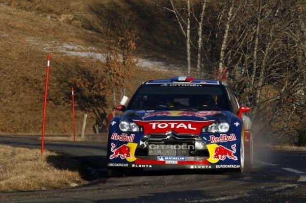Sébastien Loeb sur les routes du Monte Carlo avec sa Citroën DS3 WRC