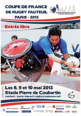 Affiche Coupe de France Rugby Fauteuil