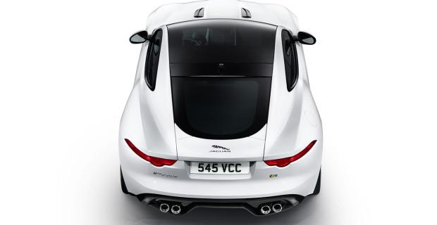 Jaguar F-Type R Polaris White vue arrière