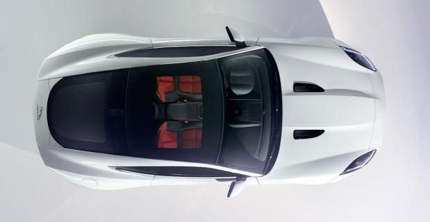 Jaguar F-Type R Polaris White vue de dessus
