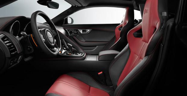 Jaguar F-Type R sièges performance cuir Red Zone premium