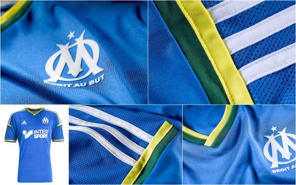 Détails maillot OM Brésil