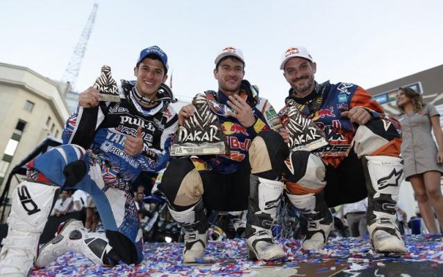 podium-moto-dakar-2014-2