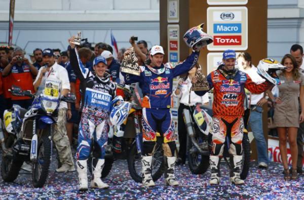 podium-moto-dakar-2014