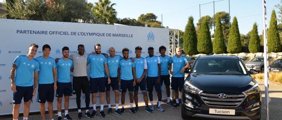 Hyundai nouveau partenaire officiel de l'Olympique de Marseille